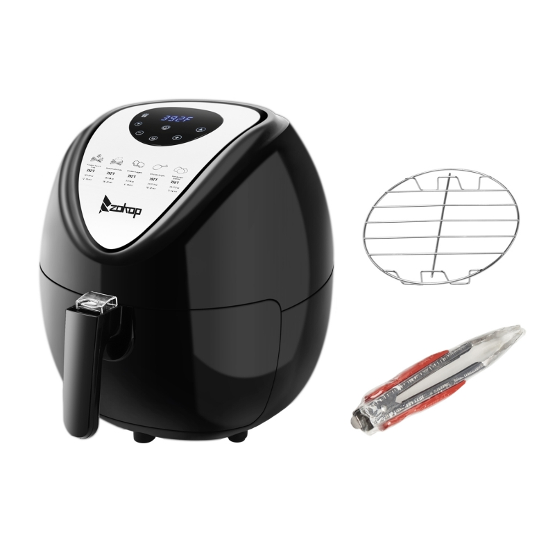 Zokop 1800w 6 87qt Electric Large Deep Air Fryer Timer