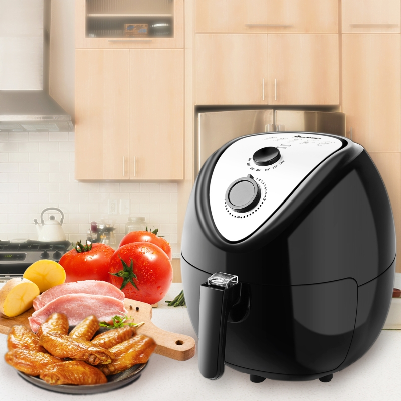 Zokop 1800w 5 3l Electric Large Deep Air Fryer Timer